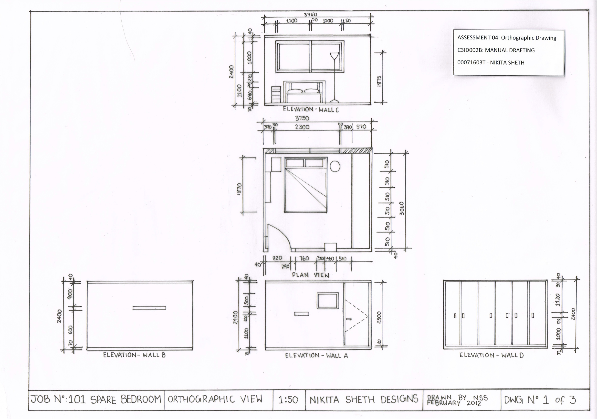 My Very First Orthographic Drawing Distracted By Design