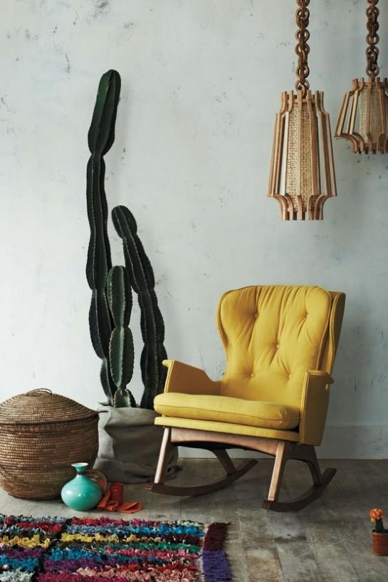 yellow chair interior