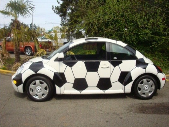 soccer ball car