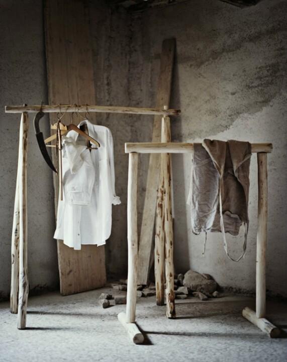 diy clothes rack distracted by design. Black Bedroom Furniture Sets. Home Design Ideas